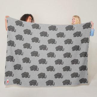"red puppy ""elephants on parade"" fleece blanket"