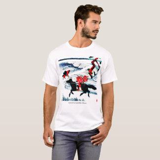 """red puppy """"horses in wind"""" T-Shirt"""
