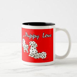 Red Puppy Love Mug