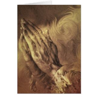 "red puppy ""praying hands"" card"