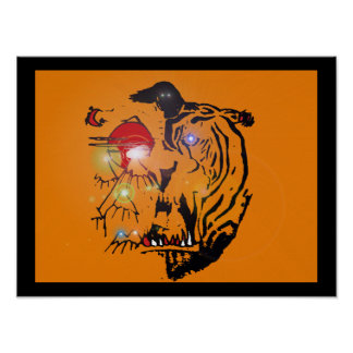 """red puppy """"Robert's Tiger"""" Poster"""