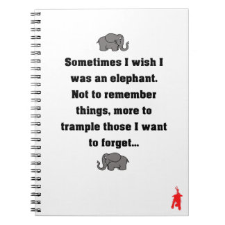 "red puppy ""sometimes I wish... elephant"" Notebook"