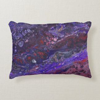 Red & Purple Accent Pillow