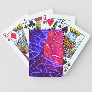 Red & Purple Cracked Quartz Crystal Bicycle Playing Cards