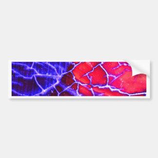 Red & Purple Cracked Quartz Crystal Bumper Sticker