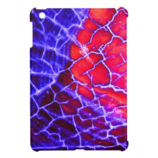 Red & Purple Cracked Quartz Crystal Cover For The iPad Mini