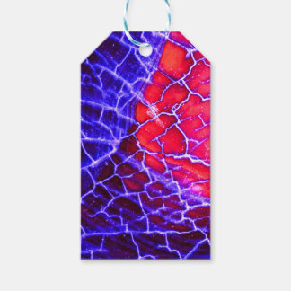Red & Purple Cracked Quartz Crystal Gift Tags