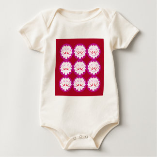 RED PURPLE ELEMENTS BABY BODYSUIT
