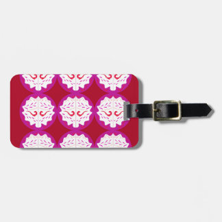 RED PURPLE ELEMENTS LUGGAGE TAG