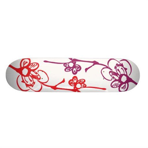 Red & Purple Flowers Skateboards