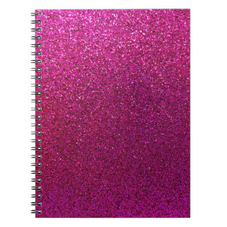 Red Purple Glitter Background Sparkle Glittery Notebooks