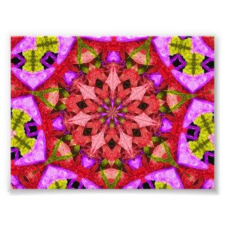 Red & Purple Kaleidoscope Mandala Photo Art