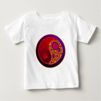 Red & Purple Swirls Yin Yang Baby T-Shirt
