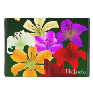 Red, Purple, Yellow and White Lilies Cases For iPad Mini