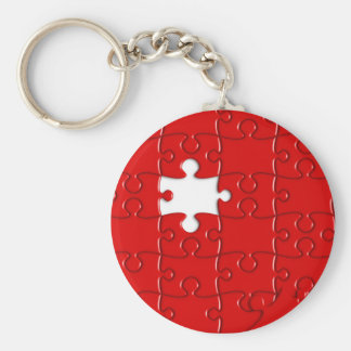 red puzzle keychain