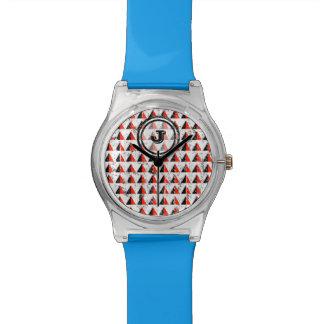 Red Pyramid Geometric Monogram Watch