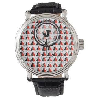 Red Pyramid Geometric Monogram Watches