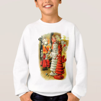 Red Queen and White King Into the Fire Sweatshirt