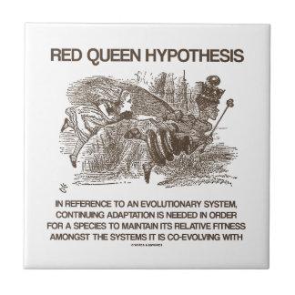 Red Queen Hypothesis (Wonderland Alice Red Queen) Tile
