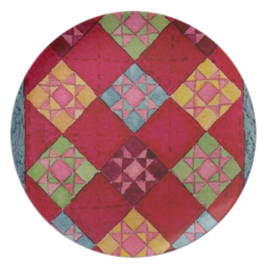 Red Quilt Plate