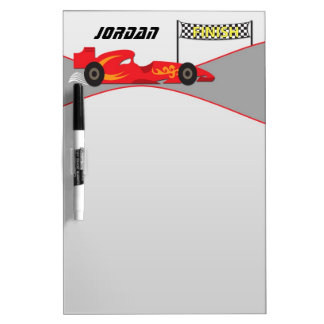 Red Race Car Dry Erase Board