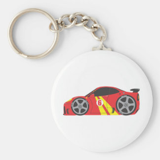 Red Race Car Keychains