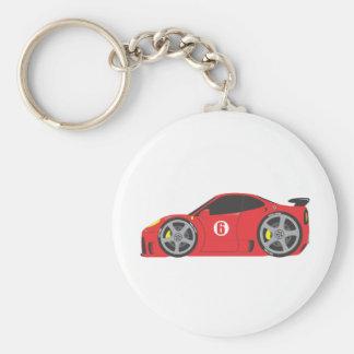 Red Race Car Key Chain