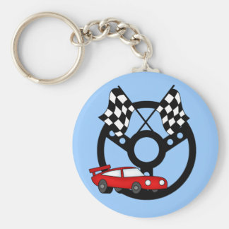 Red Race Car Tshirts and Gifts Key Chain