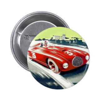 Red Racing car 2 Inch Round Button