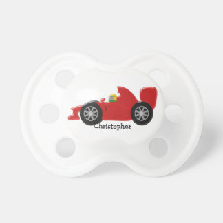 Red Racing Car Personalized Pacifier