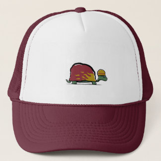 red racing turtle trucker hat