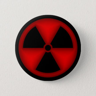 Red Radiation Symbol Button