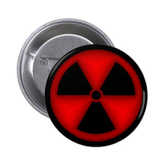Red Radiation Symbol Button