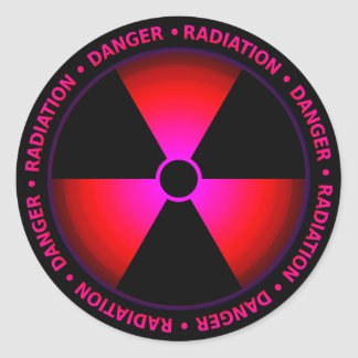 Red Radiation Symbol Sticker
