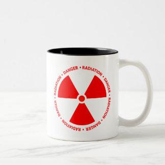 Red Radiation Warning Mug