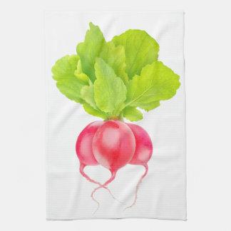 Red radishes kitchen towel