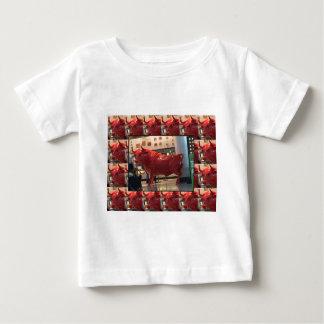 Red Raging Bull Heathrow Airport London England UK Baby T-Shirt