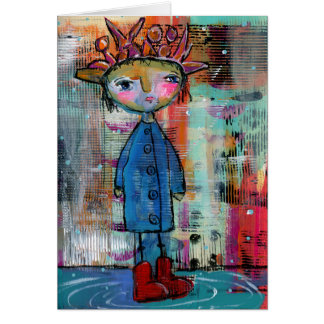 Red Raining Boots Greeting Card
