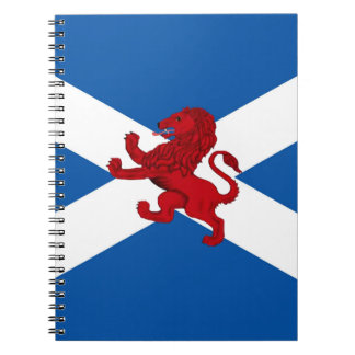 Red Rampant Lion, ancient, St. Andrew flag Notebook