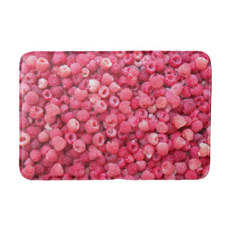 red raspberries template to customize personalize bath mat