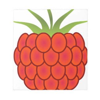 Red Raspberry Line Art Notepad