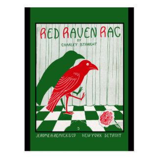 Red Raven Rag Postcard