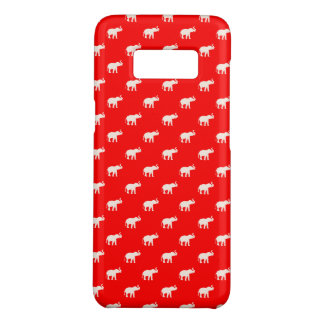 RED Red Elephant in polkadots Case-Mate Samsung Galaxy S8 Case