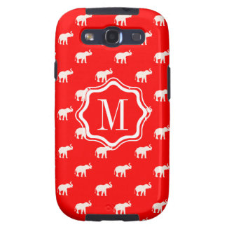 RED Red Elephant in polkadots Samsung Galaxy S3 Cover