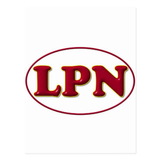 Red Red LPN Postcard
