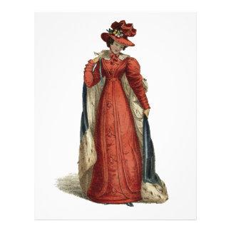 Red Regency Lady Letterhead
