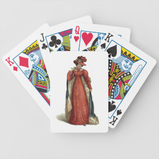 Red Regency Lady Poker Deck