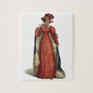 Red Regency Lady Puzzles
