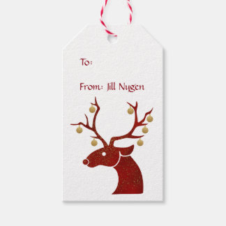 Red Reindeer Gift Tags Pack Of Gift Tags