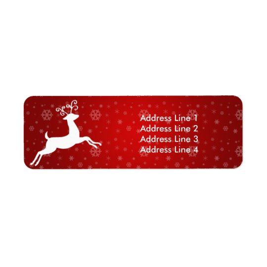 Red Reindeer Return of Address Label